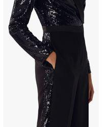 Coast - Black Minelli Sequin Tux Jumpsuit - Lyst