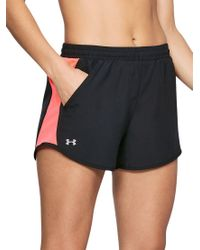 Under Armour - Black Printed Fly-by Running Shorts - Lyst