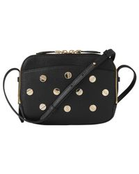 L.K.Bennett - Black Mariel Studded Leather Shoulder Bag - Lyst