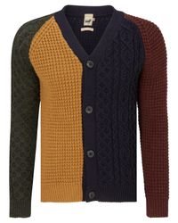 John Lewis - Blue Made In England Patchwork Cardigan for Men - Lyst