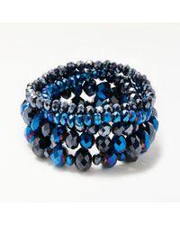 John Lewis - Blue Multi Stretch Bracelet - Lyst