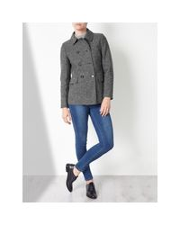 John Lewis | Gray Double Breasted Pea Coat | Lyst