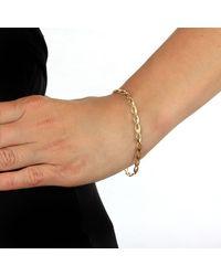 Ib&b - Metallic 9ct Gold Oval Link Bracelet - Lyst