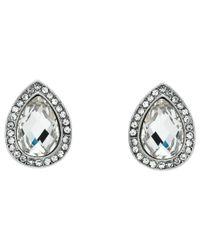 Monet - Metallic Glass Crystal Teardrop Stud Earrings - Lyst