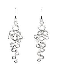 Kit Heath - Metallic Coil Cluster Drop Earrings - Lyst