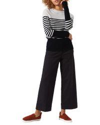 Jigsaw - Blue Block Stripe Breton Jumper - Lyst