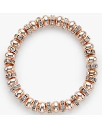 John Lewis - Multicolor Glass Pave Bead Stretch Bracelet - Lyst