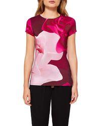 Ted Baker - Pink Somayi Porcelain Rose T-shirt - Lyst