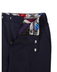 Ted Baker - Blue Chalkyt Wool Birdseye Tailored Suit Trousers for Men - Lyst