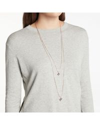 John Lewis - Metallic Double Layer Pendant Necklace - Lyst