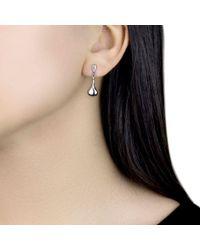 Ib&b - 9ct White Gold Bell Drop Earrings - Lyst