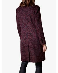 Karen Millen - Leopard Print Tailored Coat - Lyst
