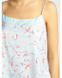John Lewis - Blue Satin Rosehip Print Camisole And Short Set - Lyst