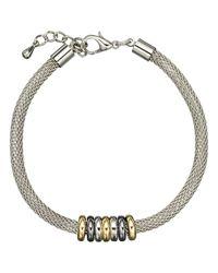 John Lewis - Metallic Mini Circles Mesh Bracelet - Lyst