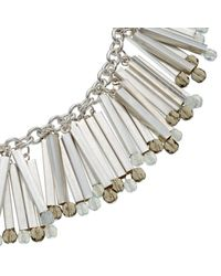 John Lewis | Metallic Tube Crystal Statement Fan Necklace | Lyst