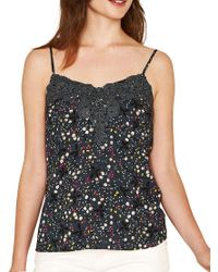 Oasis - Multicolor Lace Trim Ditsy Floral Camisole - Lyst