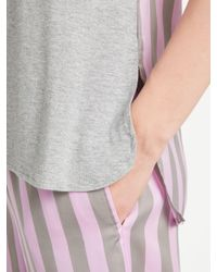 DKNY - Gray Walk The Line Tank Top And Crop Trousers Pyjama Set - Lyst