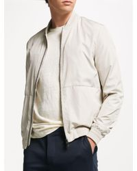 ec22badcc J.Lindeberg Thom Bomber Jacket in White for Men - Lyst