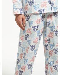John Lewis - Blue Letitia Cotton Pyjama Set - Lyst