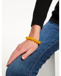 John Lewis - Yellow Beaded Stretch Bracelet - Lyst