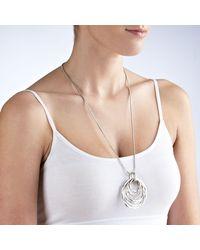 John Lewis - Metallic Multi Hoop Pendant Long Necklace - Lyst