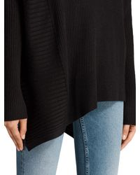 AllSaints - Black Keld Olivo Asymmetric Sweater - Lyst
