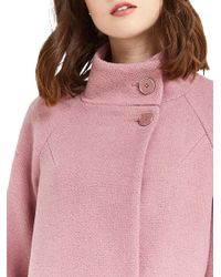 Oasis | Pink Florence Double Breasted Coat | Lyst