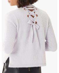 Coast - Purple Alisa Knit Jumper - Lyst