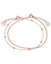 Cluse - Metallic Double Chain Ball Bead Bracelet - Lyst
