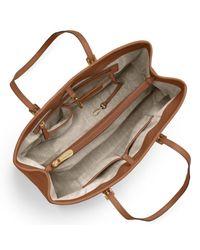 Michael Kors - Brown Michael Jet Set East/west Large Leather Tote Bag - Lyst