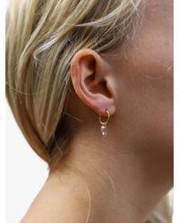 Missoma - Metallic Rose Quartz Mini Hoop Earrings - Lyst