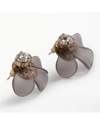 John Lewis - Gray Resin Flower Stud Earrings - Lyst
