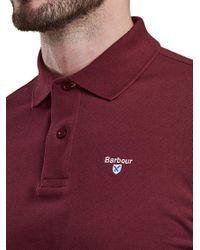 Barbour - Red Tartan Pique Polo Shirt for Men - Lyst