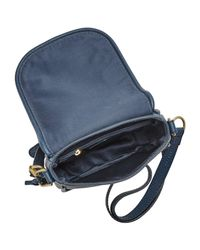 Fossil - Blue Rumi Small Leather Across Body Bag - Lyst