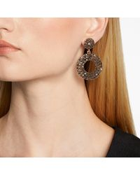 John Lewis - Metallic Sparkle Circle Drop Earrings - Lyst