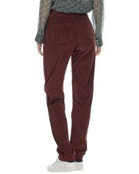 Brora - Red Jumbo Cord Trousers - Lyst
