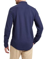 Lyle & Scott - Blue Honeycomb Jersey Shirt for Men - Lyst