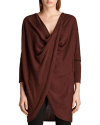 AllSaints - Red Itat Shrug - Lyst