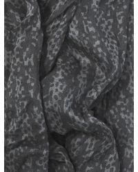 John Varvatos - Gray Crinkled Printed Scarf for Men - Lyst