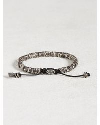 John Varvatos - Metallic Oxidized Sterling Silver Bracelet for Men - Lyst