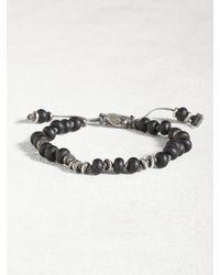 John Varvatos | Black Frosted Onyx And Sterling Silver Bracelet for Men | Lyst