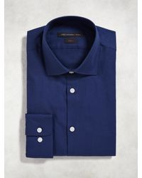 John Varvatos - Blue Slim Fit Dress Shirt for Men - Lyst