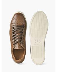 John Varvatos - Brown Stamped Reed Low Top Sneaker for Men - Lyst