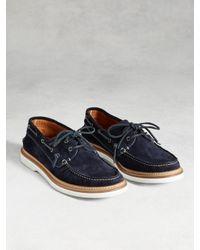 John Varvatos   Black Montauk Boat Shoe for Men   Lyst