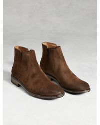 John Varvatos - Brown Sid Crepe Chelsea Boot for Men - Lyst