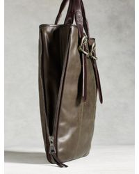 John Varvatos - Green Bleeker Zip Shopper Bag for Men - Lyst