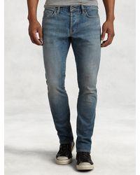 John Varvatos - Blue Bowery Medium Wash Jean for Men - Lyst