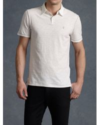 John Varvatos | White Peace Polo for Men | Lyst