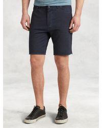 John Varvatos - Blue Jeans Style Knit Short for Men - Lyst