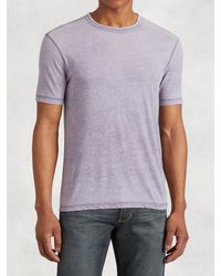 John Varvatos | Purple Burnout Crewneck for Men | Lyst